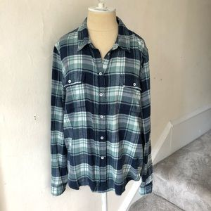 PAIGE Brushed Flannel Plaid Trudy Button Down